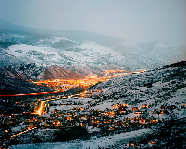 Eagle Valley at Dusk in Vail Colorado